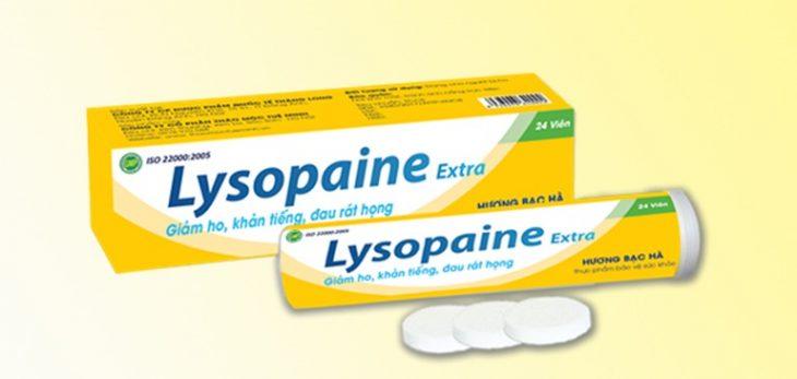 Viên ngậm Lysopaine giúp giảm các triệu chứng viêm họng nhanh, hiệu quả