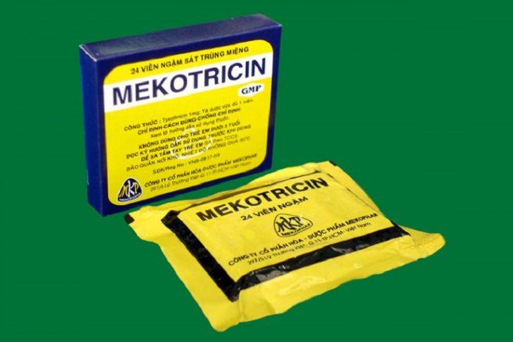 Mekotricin của Công ty cổ phần hóa – Dược phẩm Mekophar là thuốc viêm họng cho bà bầu được nhiều người tin dùng