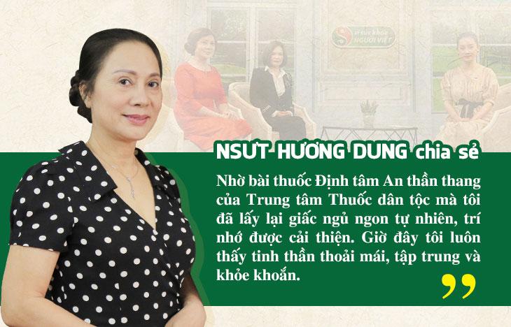 NSƯT Hương Dung đã thoát khỏi mất ngủ kinh niên, suy giảm trí nhớ nhờ bài thuốc Định tâm An thần thang