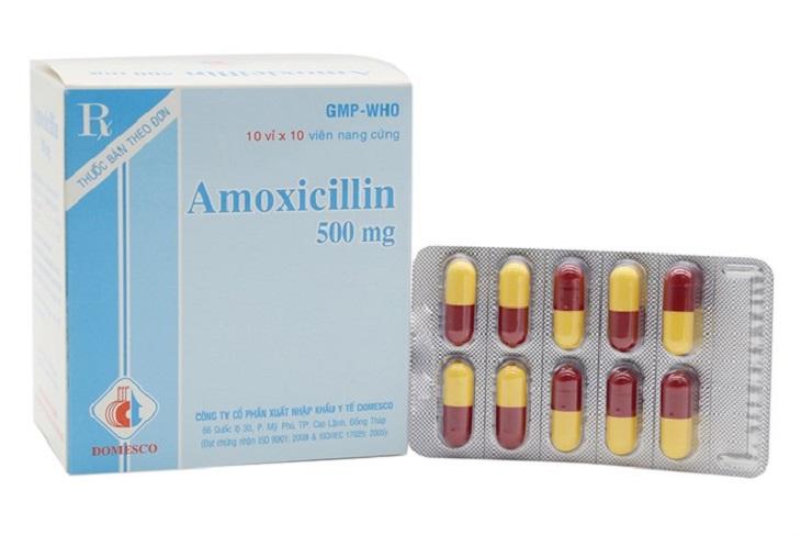 Amoxicilline là loại thuốc hỗ trợ điều trị vi khuẩn HP hiệu quả