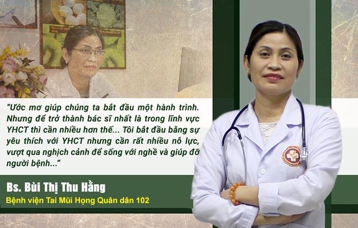 Bác sĩ Thu Hằng có chuyên môn cao, giàu kinh nghiệm trong điều trị viêm họng