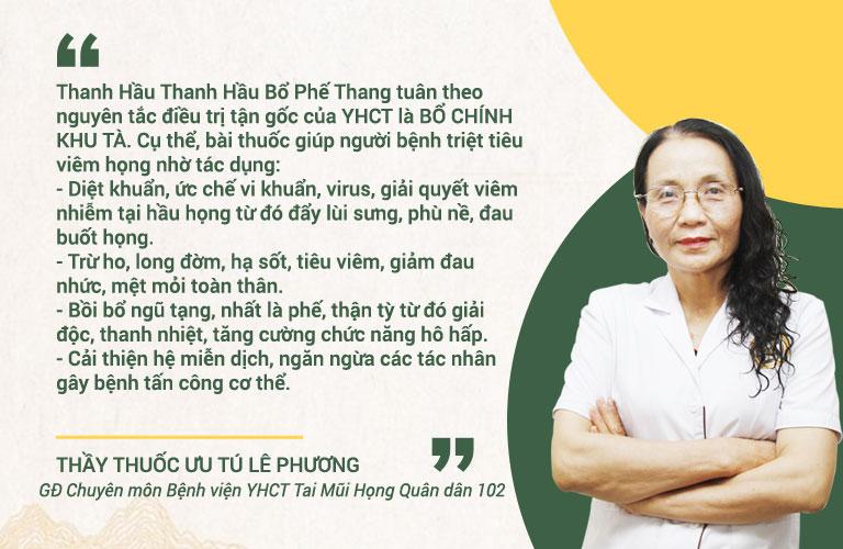 Bác sĩ Phương chia sẻ