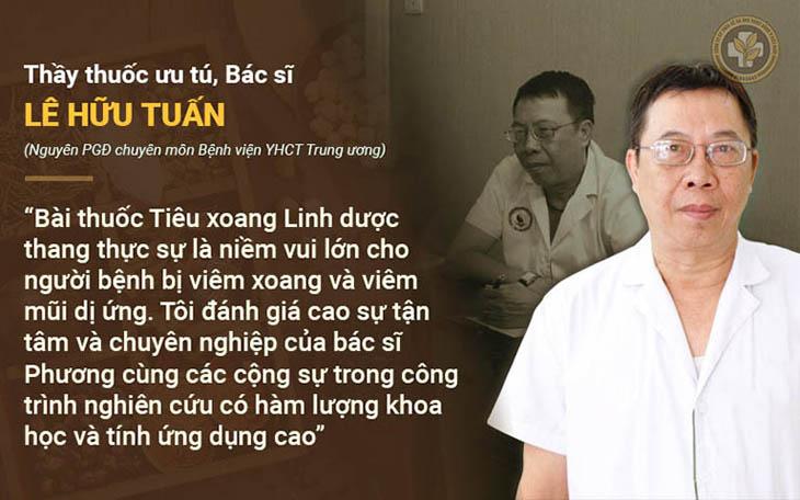 Đánh giá của Thầy thuốc ưu tú, bác sĩ CKII Lê Hữu Tuấn