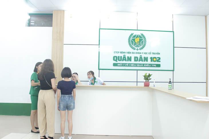 Bệnh nhân tại Bệnh viện Quân dân