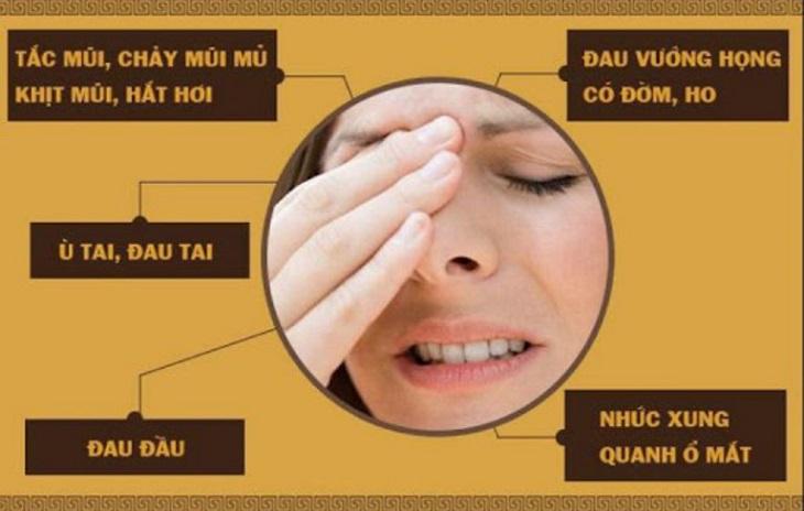 Một số tình trạng đau của viêm xoang