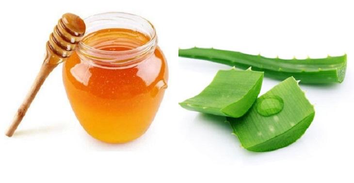 Nha đam kết hợp với mật ong chữa bệnh