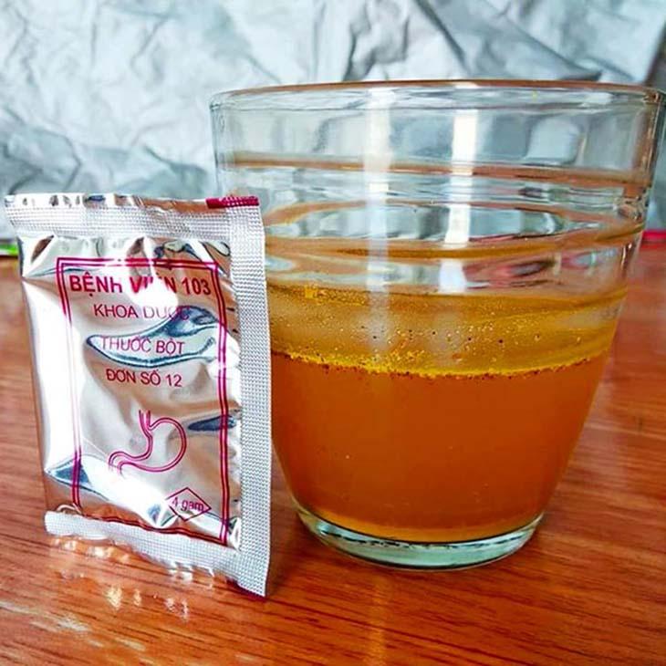 Thuốc dạ dày viện 103 có thể hòa cùng với nước để uống rất tiện dụng