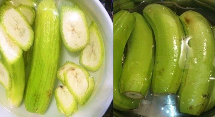 Ăn chuối xanh trực tiếp là cách làm đơn giản nhất