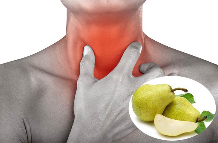 Bạn không chữa viêm họng bằng quả lê héo, ít thành phần dinh dưỡng