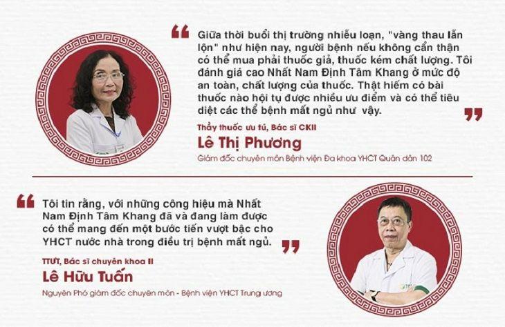 Chuyên gia đánh giá về bài thuốc Nhất Nam Định Tâm Khang