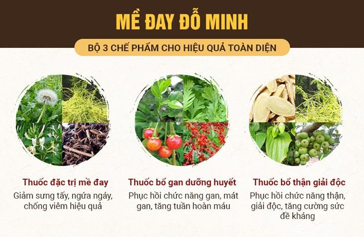 Chi tiết bài thuốc 3 trong 1 chữa dị ứng thức ăn nổi mẩn ngứa của Đỗ Minh Đường