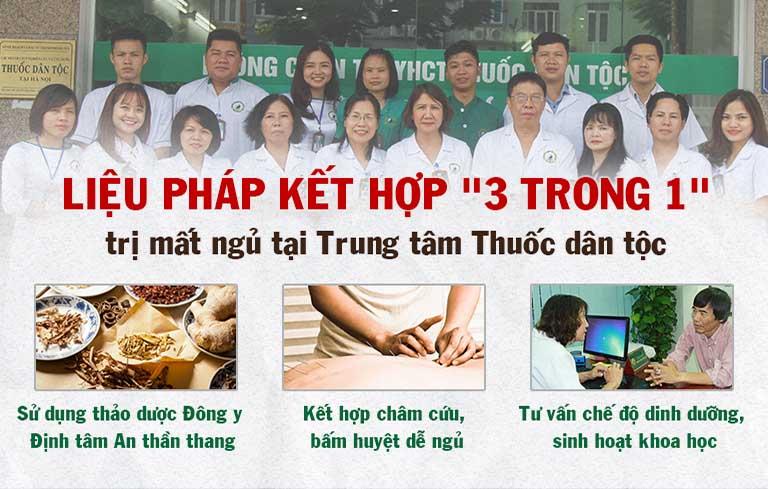Phác đồ điều trị mất ngủ kết hợp tại Trung tâm Thuốc dân tộc