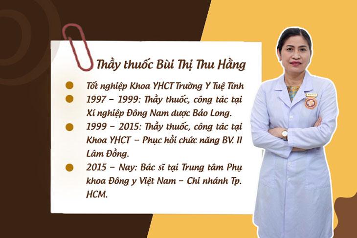 Quá trình học tập và công tác của Lương y Bùi Thị Thu Hằng