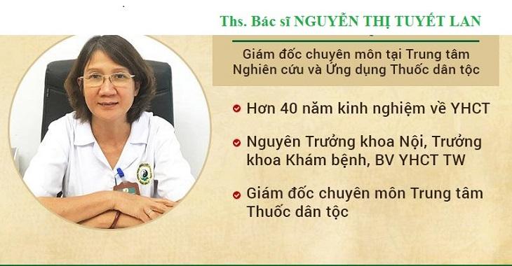 Bác sĩ Tuyết Lan công tác tại Thuốc dân tộc