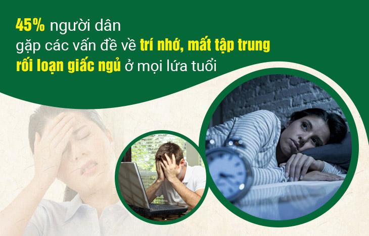 Mất tập trung, suy giảm trí nhớ là bệnh lý phổ biến có thể xảy ra ở nhiều độ tuổi