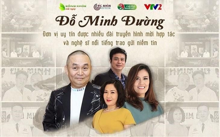 Nhà thuốc Đỗ Minh Đường đồng hành cùng nhiều chương trình truyền hình và nghệ sỹ nổi tiếng chăm sóc sức khỏe