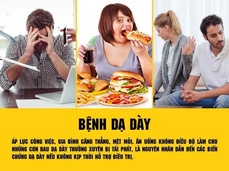 Đau dạ dày là do nhiều nguyên nhân