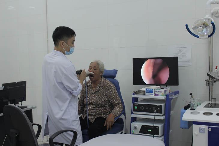 Nội soi tai mũi họng tại bệnh viện Quân dân