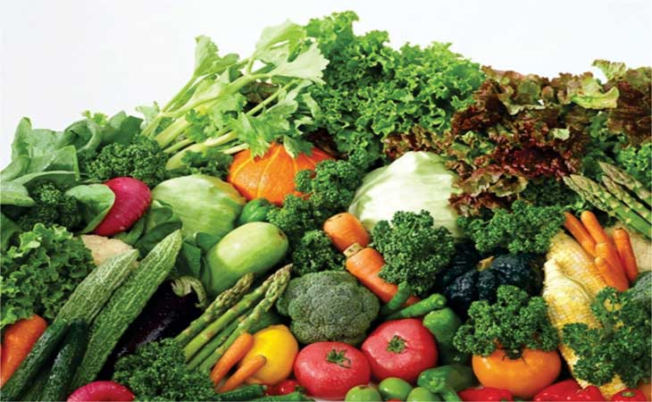 Nên bổ sung rau xanh và hoa quả không chua vào chế độ ăn uống khi bị viêm dạ dày cấp