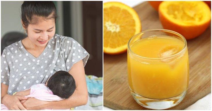 Nước cam giúp bé tăng cường sức đề kháng