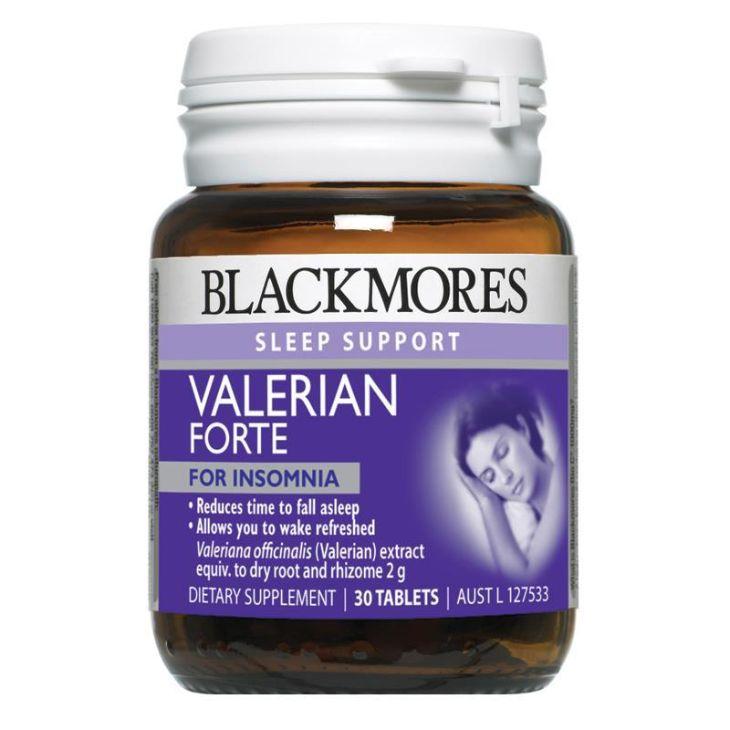 Thực phẩm chức năng Blackmores Valerian Forte 2000mg giúp hỗ trợ điều trị mất ngủ ở người già