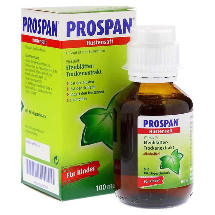 Thuốc ho Prospan có thành phần chính là Cao khô lá thường xuân