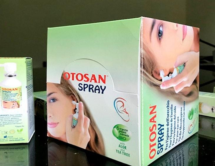 Sau khi dùng thuốc viêm tai Otosan cần rửa lại vòi thuốc