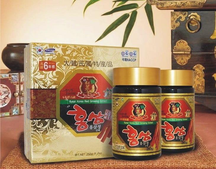 Sản phẩm này được bào chế từ ồng sâm Hàn Quốc được trồng ít nhất 6 năm trước đó