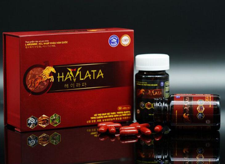 Thuốc Haylata gồm 2 hộp thuốc viên đỏ và đen giúp tăng sinh lý