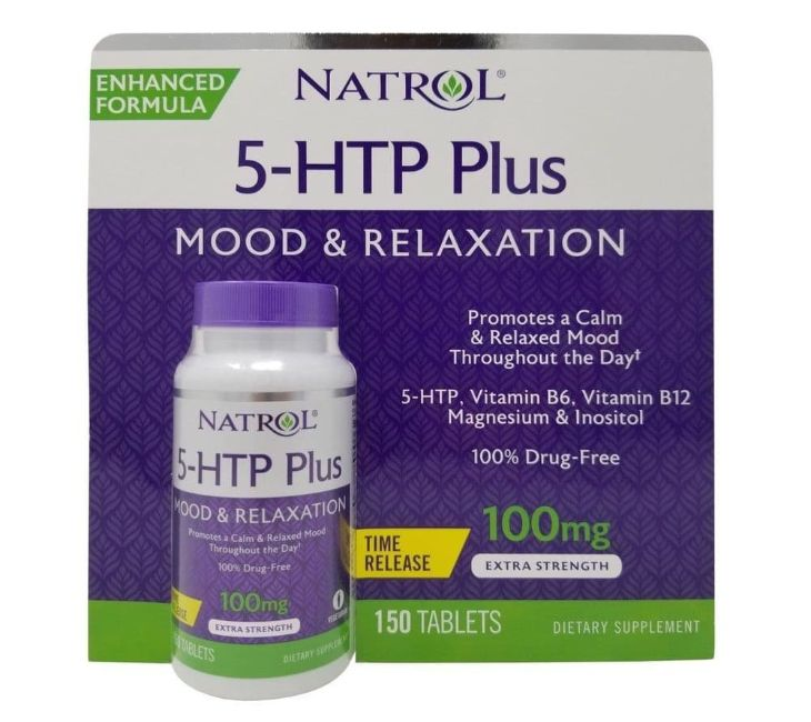 Thuốc hỗ trợ điều trị mất ngủ Natrol 5 – HTP Mood & Relaxation Plus