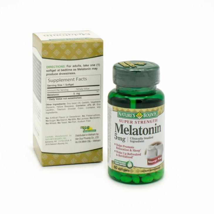 Thuốc chống mất ngủ của Mỹ Super strength melatonin