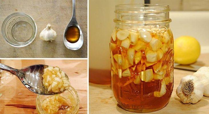 Tỏi ngâm mật ong chữa đau dạ dày hiệu quả