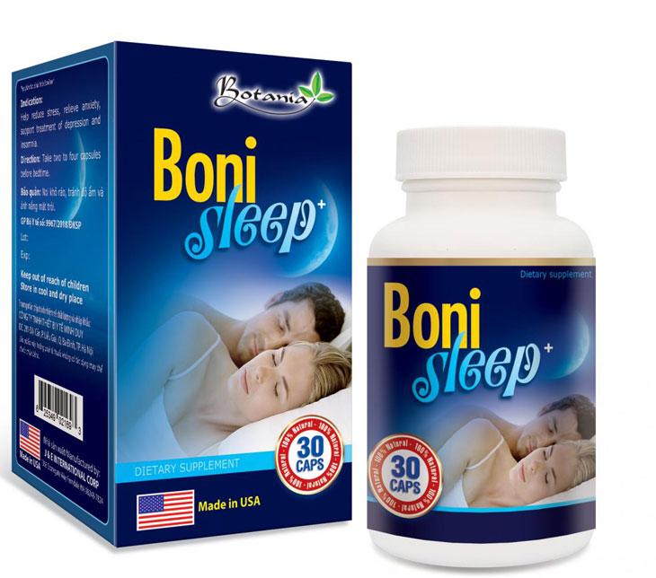 Bonisleep hỗ trợ điều trị mất ngủ nhẹ