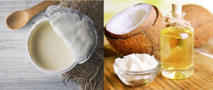 Trị viêm da cơ địa bằng dầu dừa và sữa chua