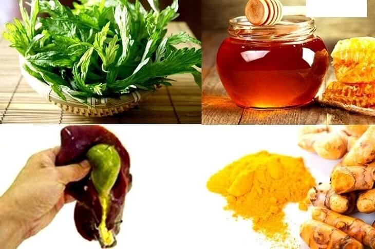 Dùng tinh bột nghệ, ngải cứu, mật ong và mật lợn điều trị viêm đại tràng