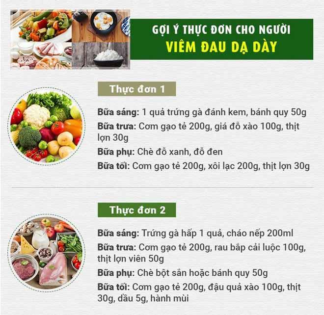 Gợi ý thực đơn cho người viêm hang vị dạ dày
