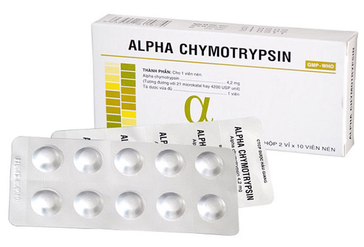 Alpha chymotrypsin - thuốc chống phù nề, xung huyết thường dùng