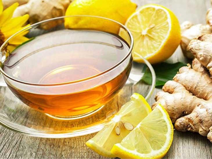 Uống trà gừng cải thiện bệnh viêm họng xung huyết