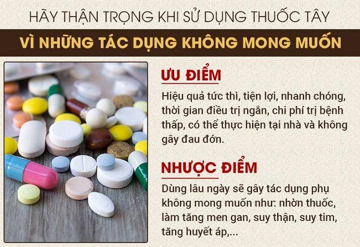 Thuốc Tây y cần sử dụng cẩn trọng theo chỉ định của bác sĩ