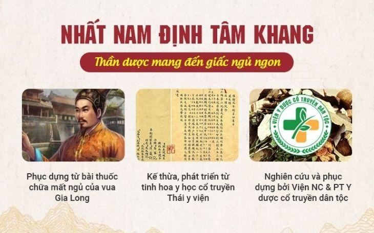 Nhất Nam Định Tâm Khang được các bác sĩ phục dựng theo bài thuốc chữa mất ngủ cho Vua Gia Long