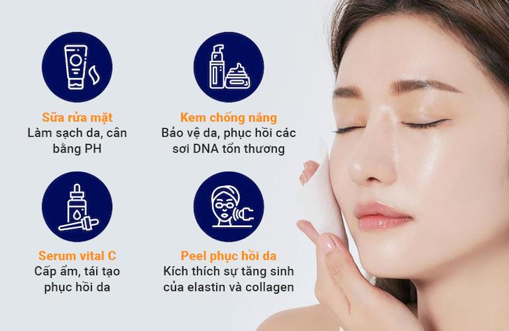 Phương pháp chăm sóc da chuyên sâu tại chỗ giúp da phục hồi từ bên ngoài
