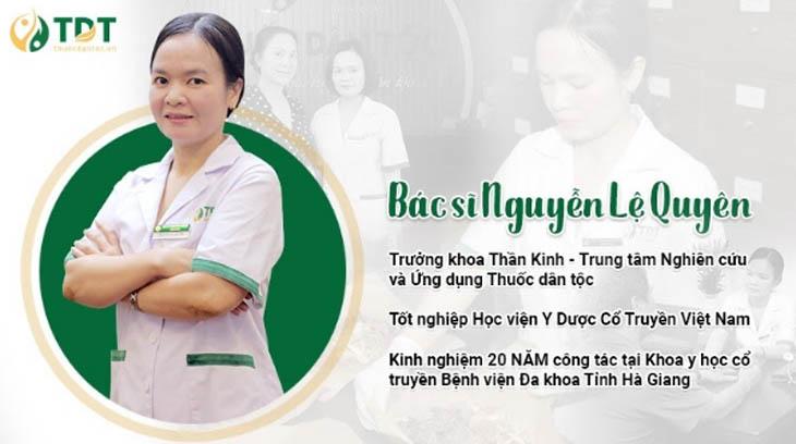 Bác sĩ Nguyễn Lệ Quyên chữa mất ngủ bằng Đông y