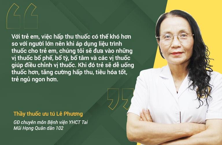 Bác sĩ Lê Phương chia sẻ cách kê đơn chữa viê họng cho trẻ
