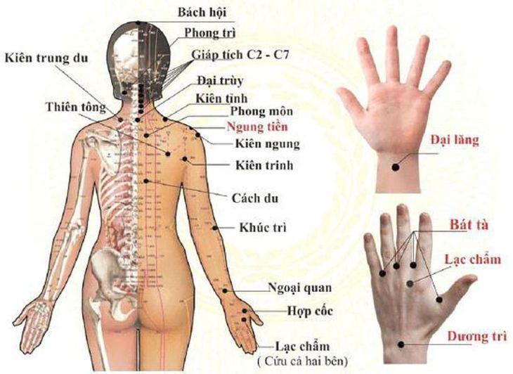 Phương pháp bấm huyệt cần được thực hiện bởi người có kinh nghiệm để biết chính xác các huyệt vị