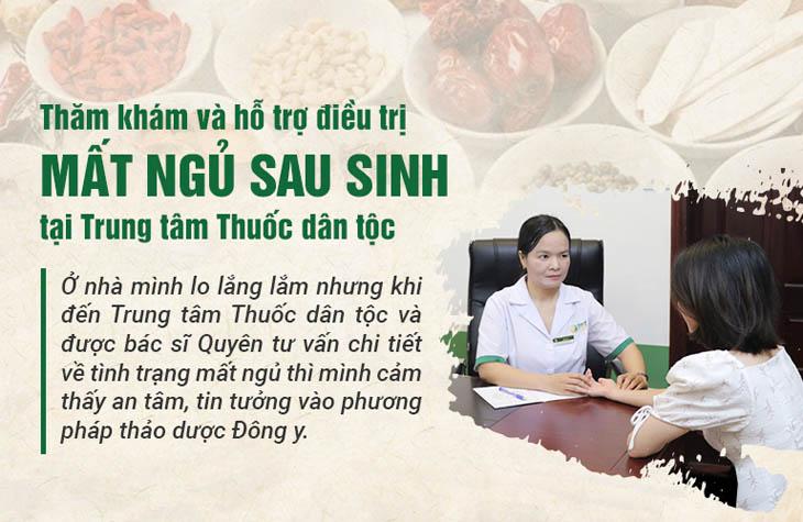 Chị Huệ khám chữa mất ngủ tại Trung tâm Thuốc dân tộc