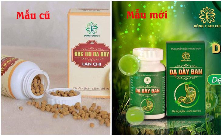 Bao bì mới và cũ của thuốc đau dạ dày Lan Chi