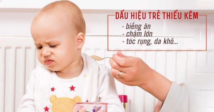 Trẻ thiếu kẽm thường có biểu hiện chán ăn, khó ngủ