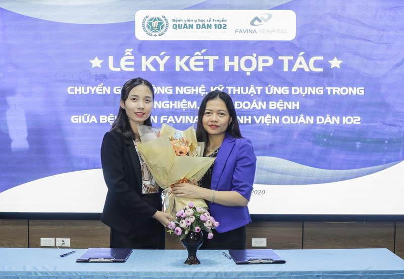 Lễ ký kết hợp tác chuyển giao công nghệ, kỹ thuật ứng dụng giữa bệnh viện Favina và Bệnh viện YHCT Quân dân 102
