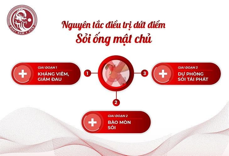 Nguyên tắc điều trị dứt điểm sỏi ống mật chủ