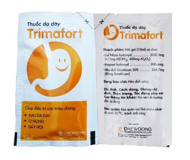 Trimafort - thuốc dạ dày dạng sữa